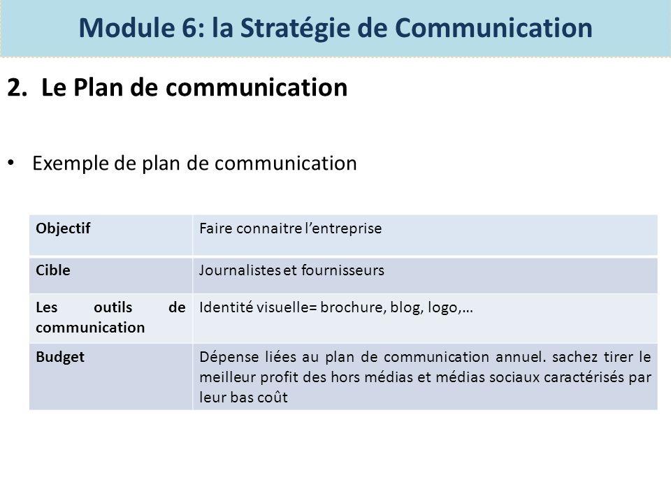 3.LAction de communication Il sagit de la communication à court terme.