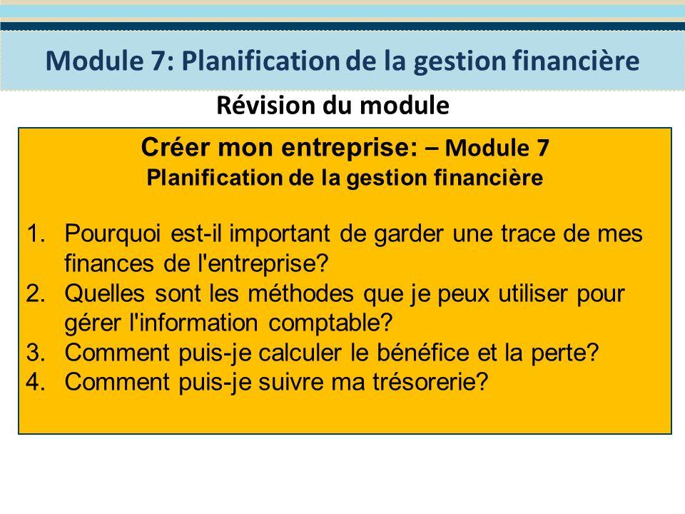 Module 8: Financer mon entreprise Le programme WES de Formation en Entreprenariat