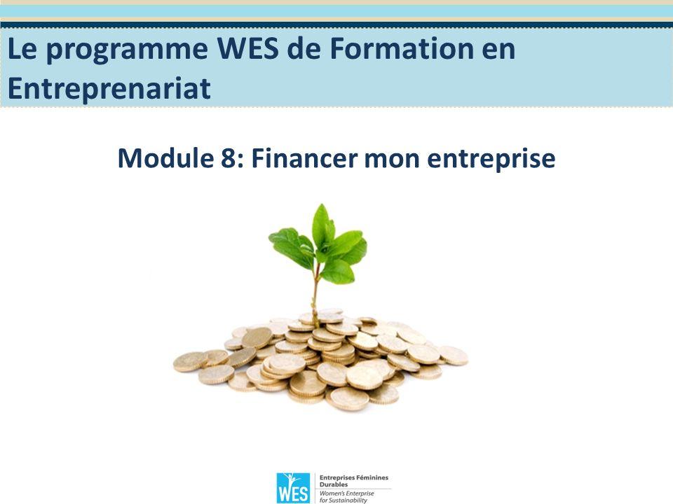 Objectifs Pédagogiques Sinitier aux différents types de financement et aux sources de financement disponible dans votre région.
