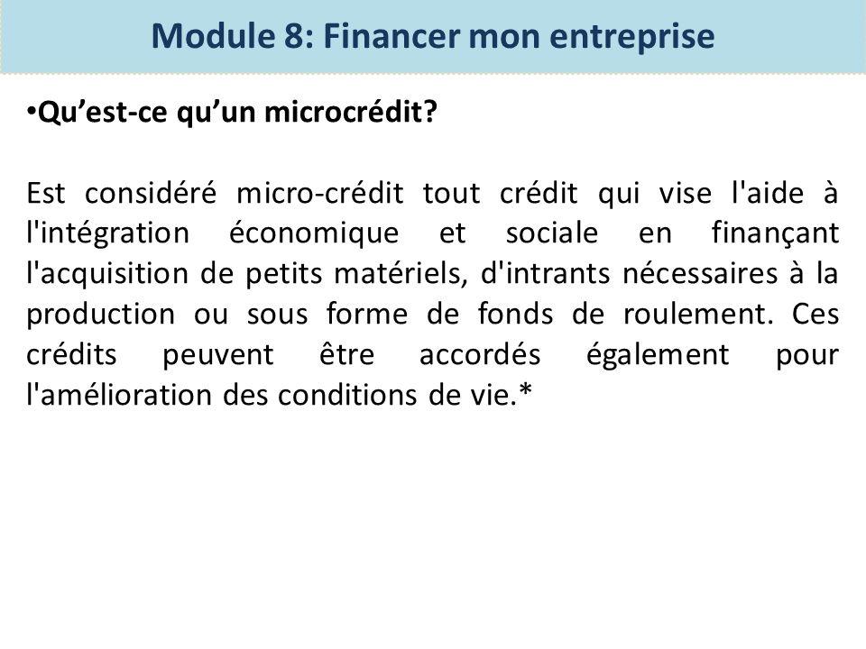 Les microcrédits en Tunisie: Ils sont principalement accordés par les sociétés de microcrédit locales, les associations et les ONG internationales.