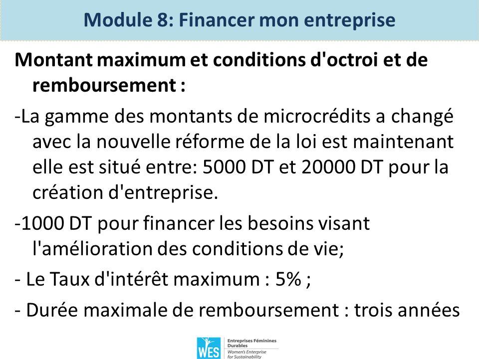 Créer mon entreprise: – Module 8 Financer mon entreprise 1 - Comment décider de la nécessité d un financement extérieur.