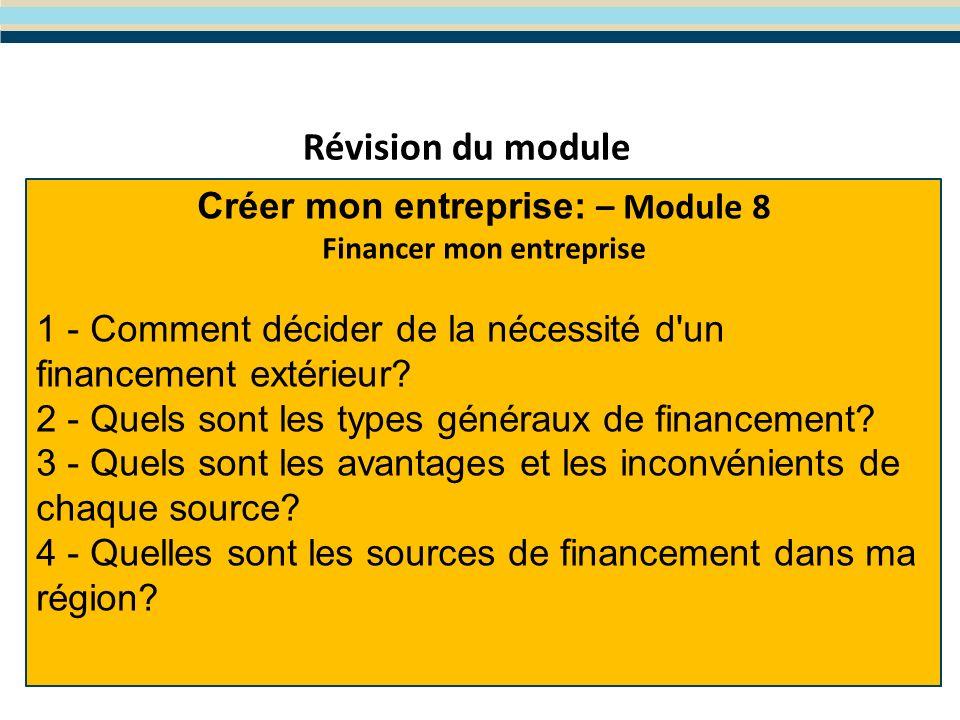 Module 9: La gestion des risques dentreprise Le programme WES de Formation en Entreprenariat