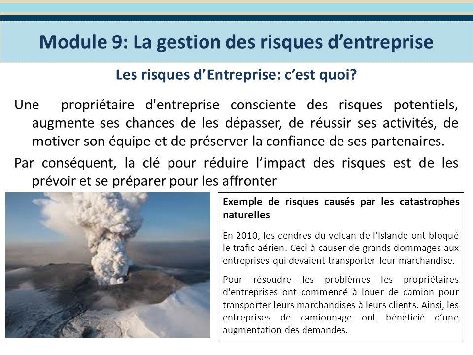 Planification de la gestion des risques Les petites et moyennes entreprises sont exposées à des risques tout le temps.