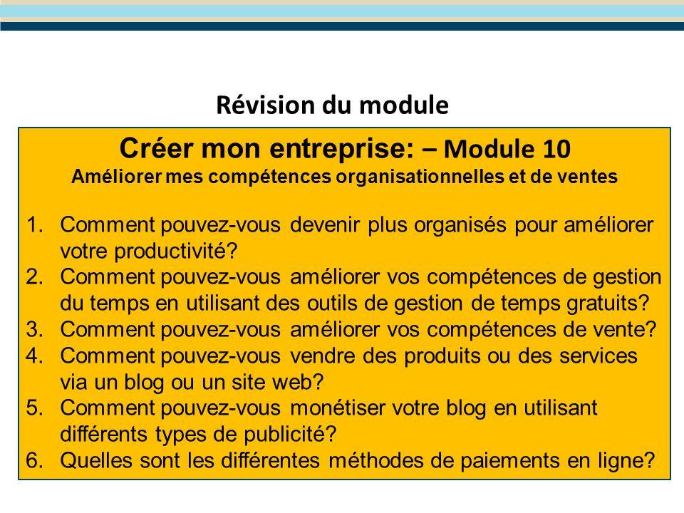 Module 11- Le choix du type d entreprise et de la forme juridique Le programme WES de Formation en Entreprenariat