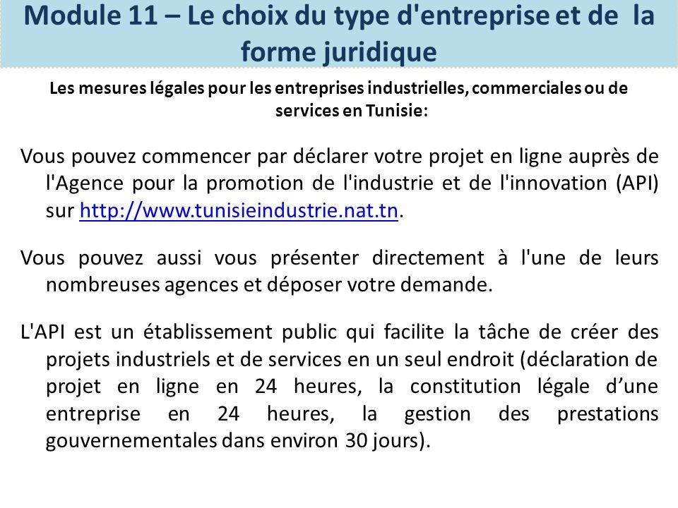 Les mesures légales pour créer une entreprise individuelle en Tunisie: Étape 1- Déclaration de l existence et l obtention d un numéro d identification fiscale au bureau des «contrôles des impôts ».