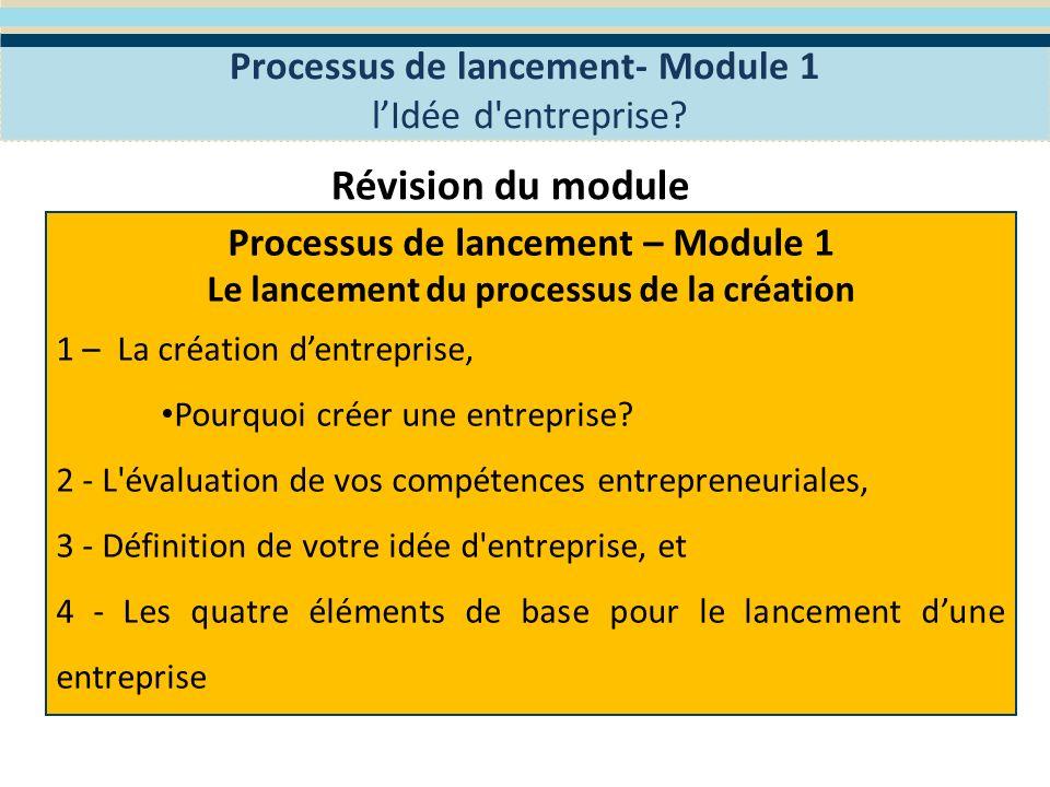 Module 2- La Planification stratégique Le programme WES de Formation en Entreprenariat