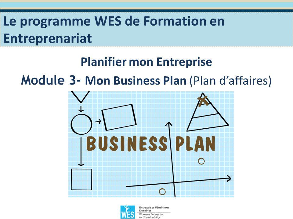 Objectifs Pédagogiques Sinitier à lélaboration dun Plan Business,