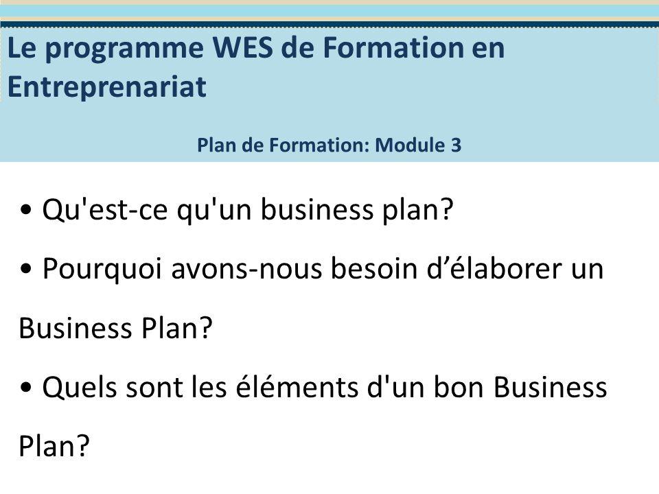 Qu est-ce qu un Plan Business.