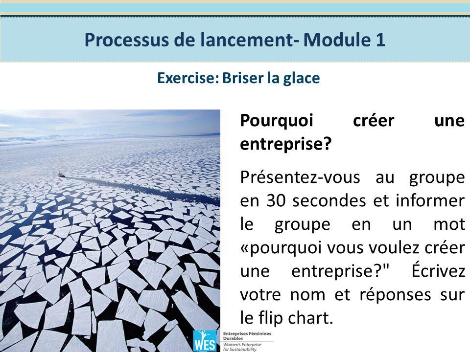 Exercice 1: Discussion de groupe Décrivez le marché de l emploi dans votre région.