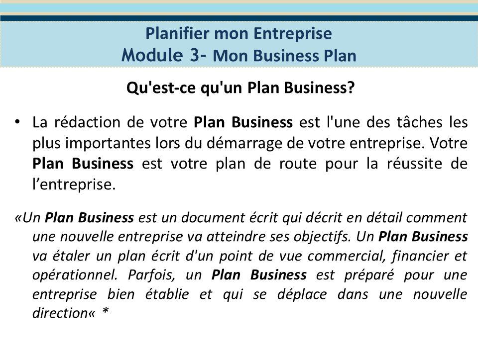 Pourquoi élaborer un Business Plan.