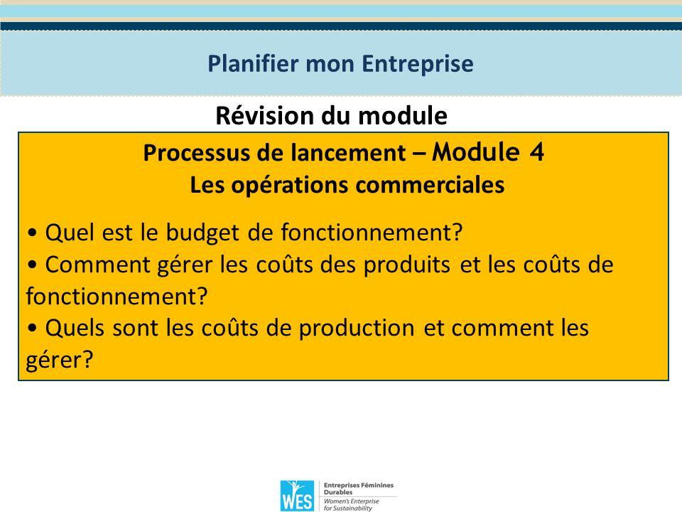 Module 5: la Stratégie de Marketing Le programme WES de Formation en Entreprenariat