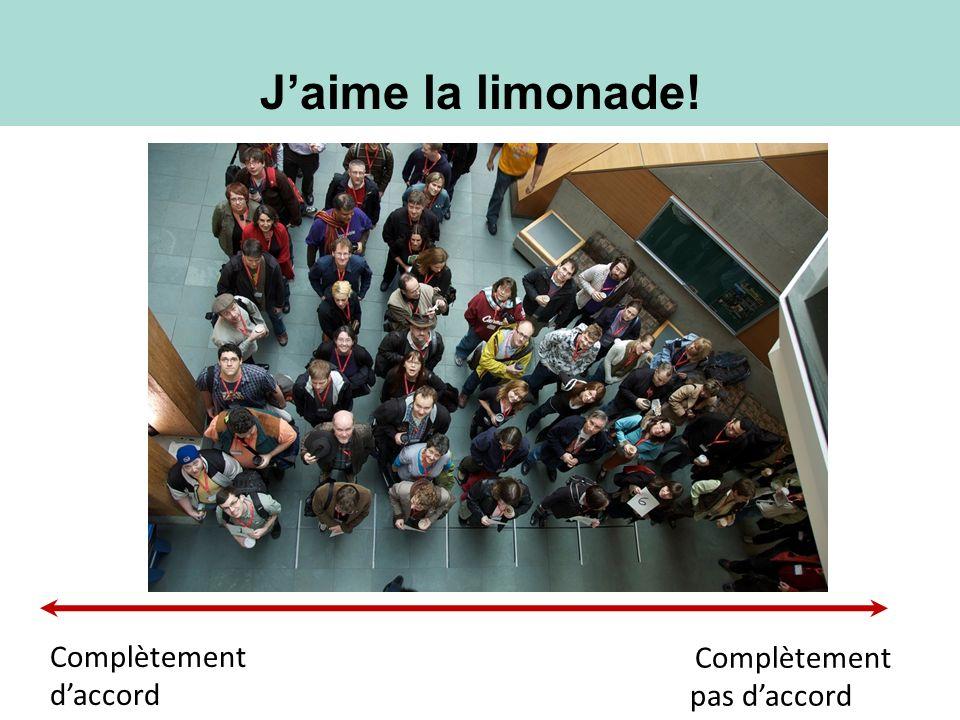 Jaime la limonade! Complètement pas daccord Complètement daccord