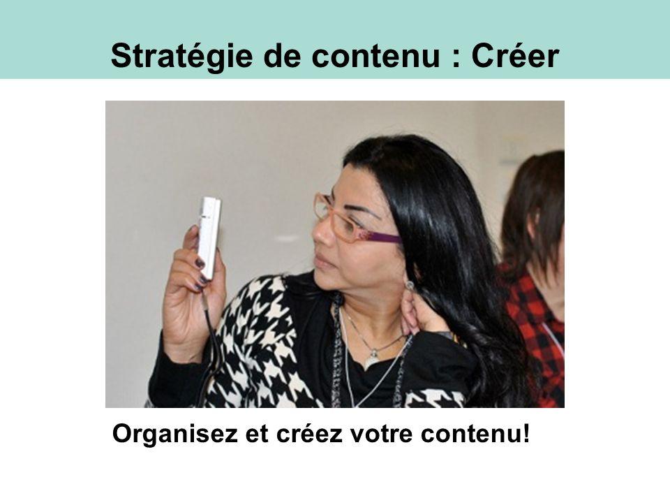 Stratégie de contenu : Créer Organisez et créez votre contenu!