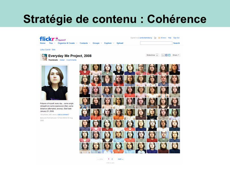 Stratégie de contenu : Cohérence