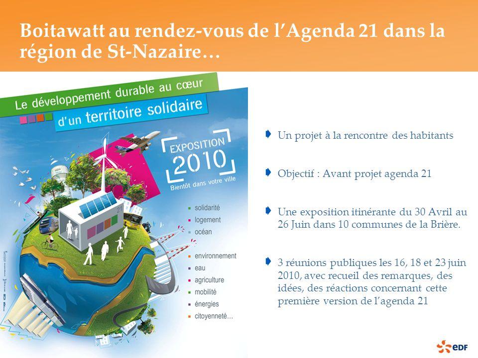 Un projet à la rencontre des habitants Objectif : Avant projet agenda 21 Une exposition itinérante du 30 Avril au 26 Juin dans 10 communes de la Brière.