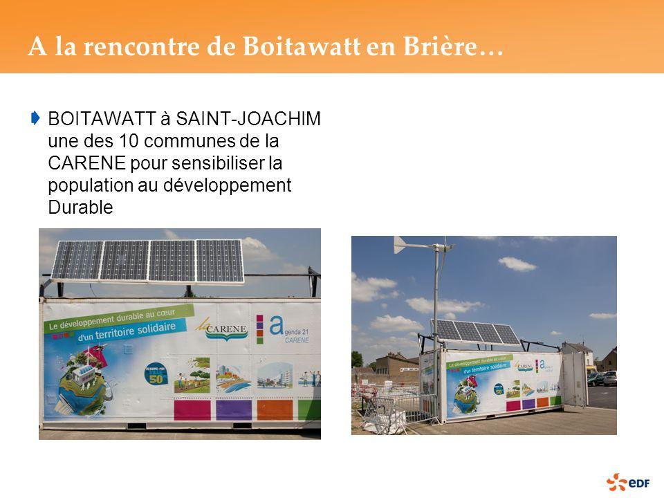 BOITAWATT à SAINT-JOACHIM une des 10 communes de la CARENE pour sensibiliser la population au développement Durable A la rencontre de Boitawatt en Brière…