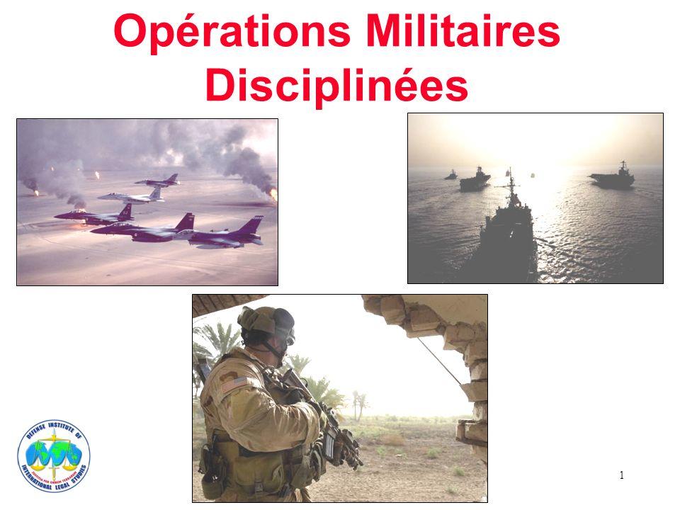 1 Opérations Militaires Disciplinées