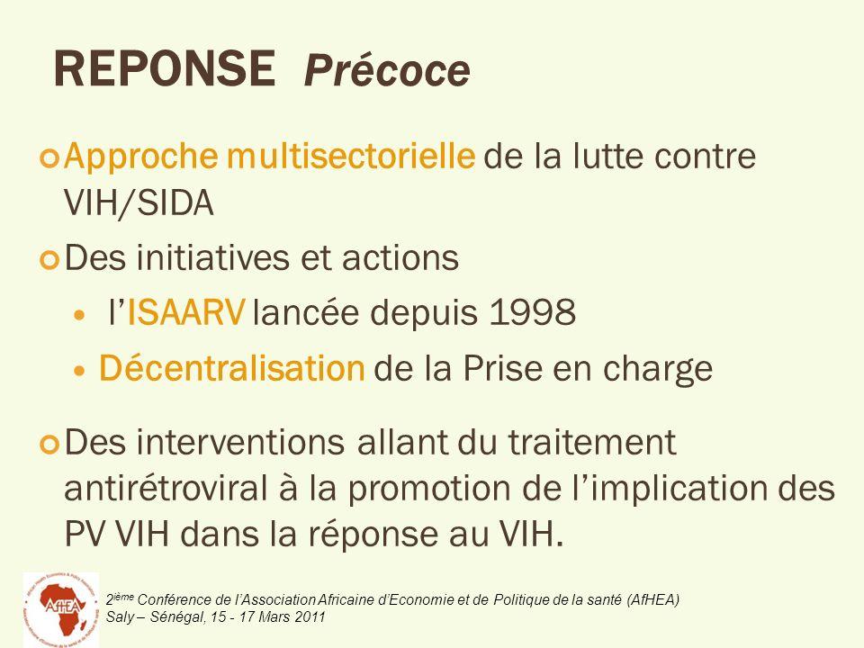 2 ième Conférence de lAssociation Africaine dEconomie et de Politique de la santé (AfHEA) Saly – Sénégal, 15 - 17 Mars 2011 Approche multisectorielle