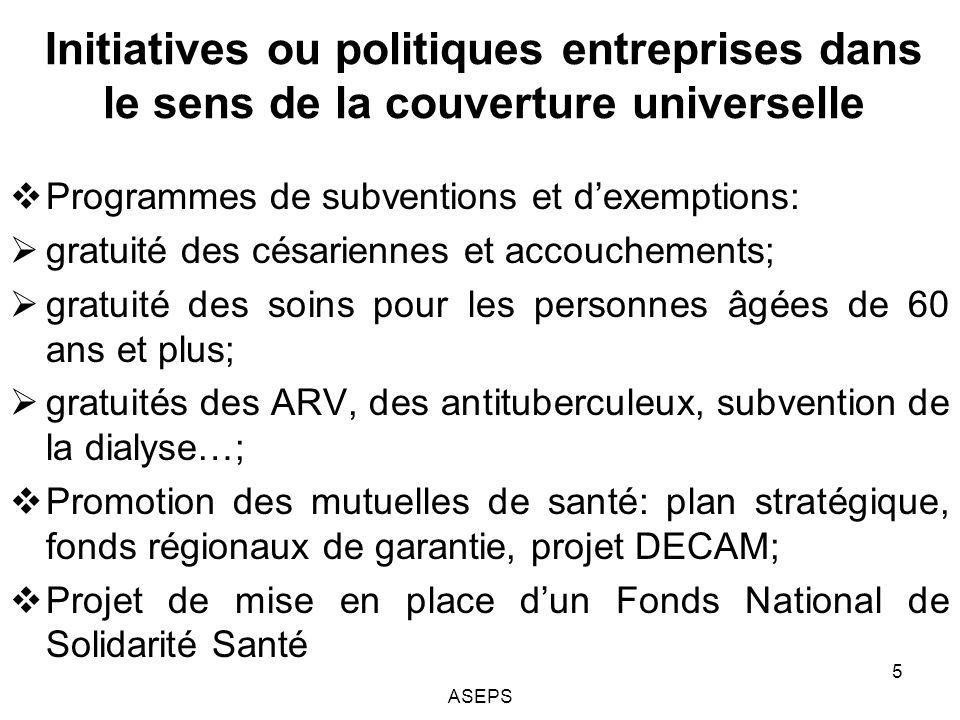 Pourquoi recourir aux outils de léconomie de la santé au Sénégal.