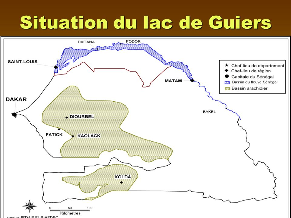 Situation du lac de Guiers