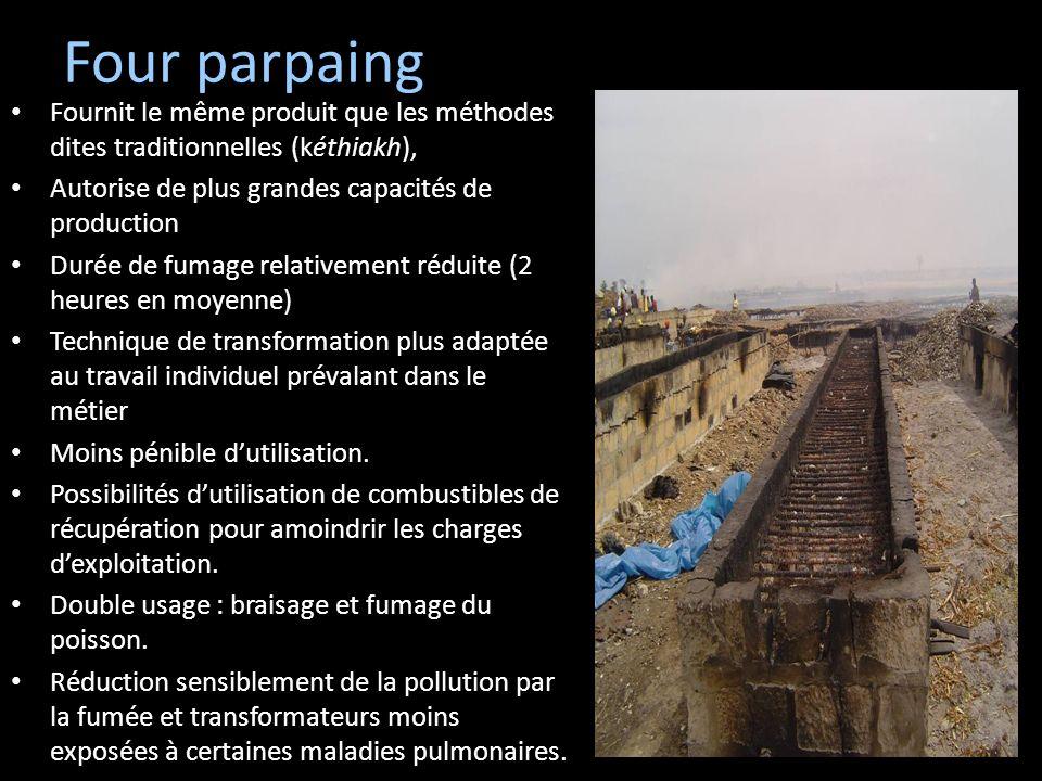 Four parpaing Fournit le même produit que les méthodes dites traditionnelles (kéthiakh), Autorise de plus grandes capacités de production Durée de fum