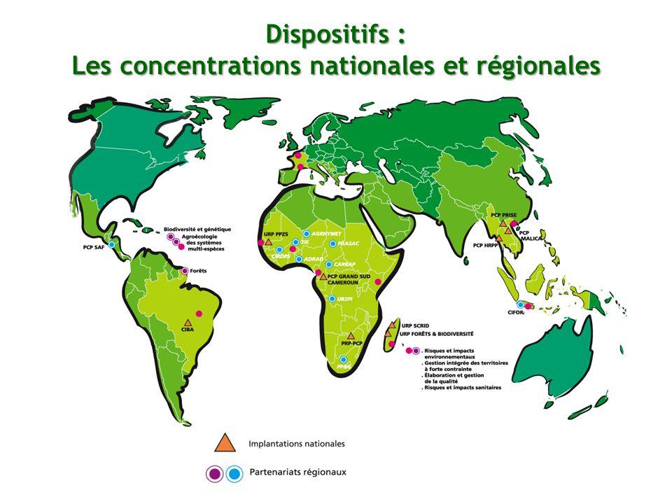 Dispositifs : Les concentrations nationales et régionales