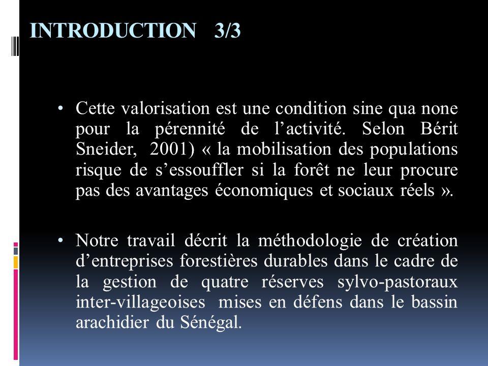 INTRODUCTION 3/3 Cette valorisation est une condition sine qua none pour la pérennité de lactivité. Selon Bérit Sneider, 2001) « la mobilisation des p