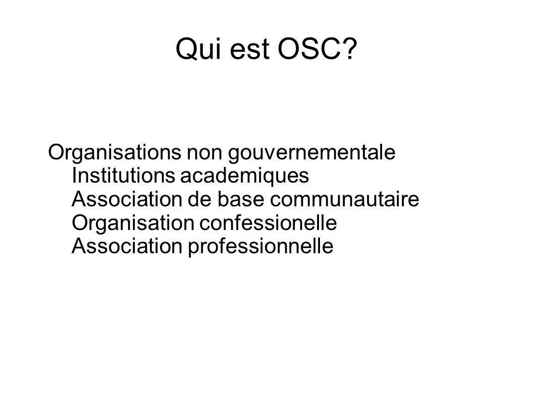 Qui est OSC.