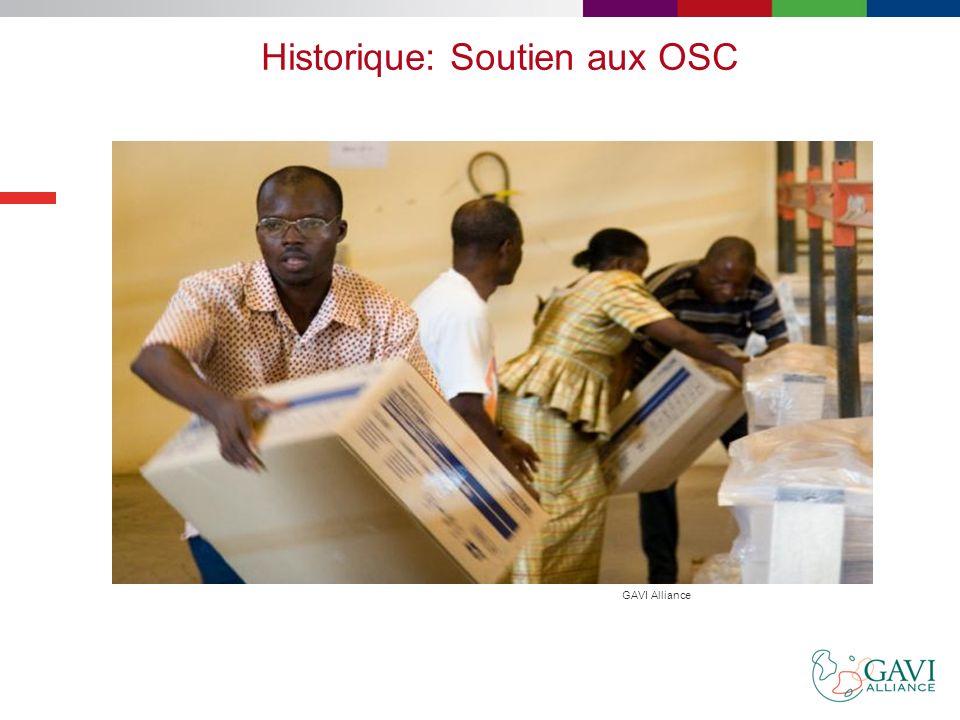 Groupe consultatif des OSC à GAVI Les OSC ont officiellement créé le groupe consultatif de la société civile (ou OSC) de GAVI Alliance, composé de deu
