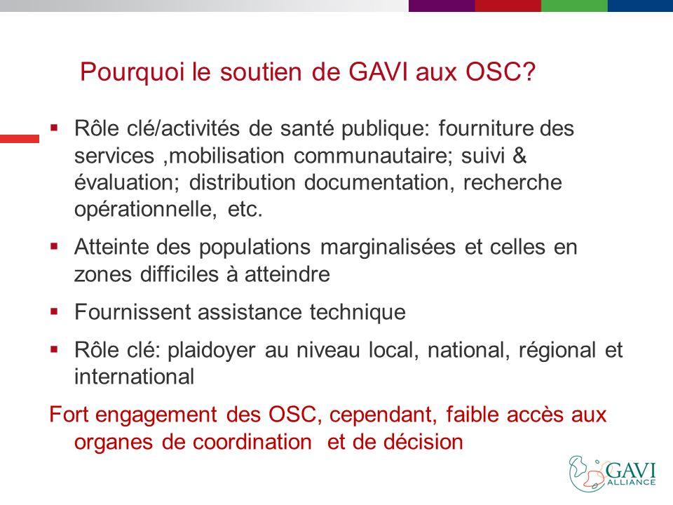 Historique: Soutien aux OSC GAVI Alliance