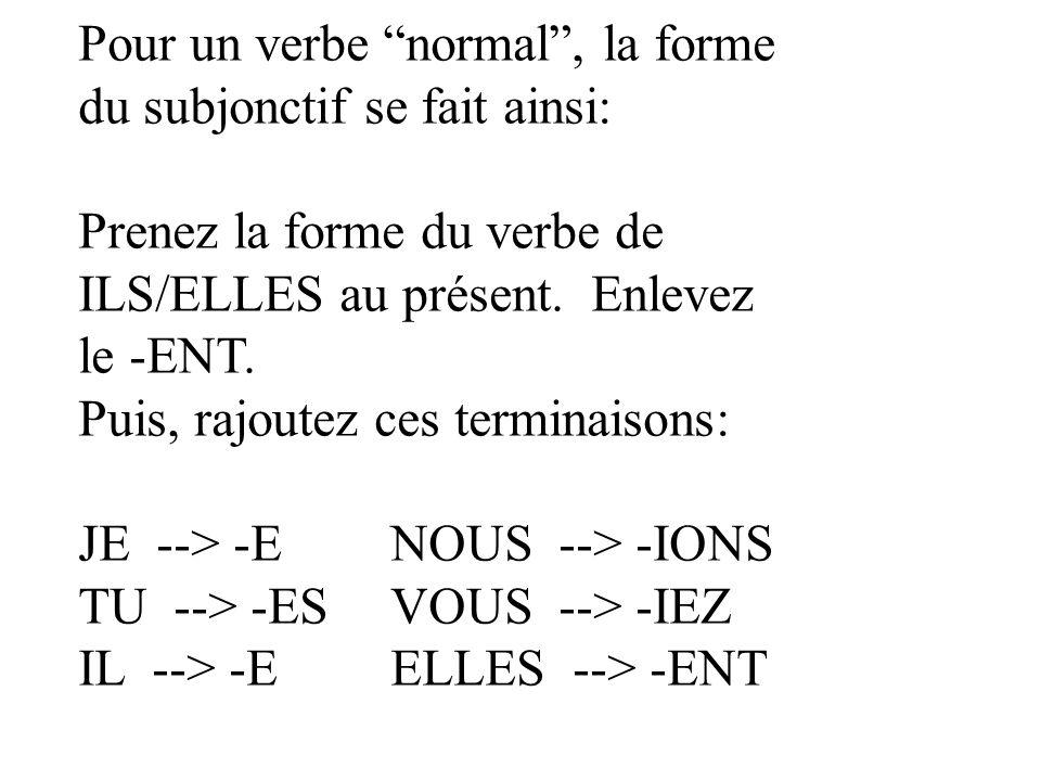 Indiquez pour chaque expression si le verbe après le QUE serait à lINDICATIF ou au SUBJONCTIF.