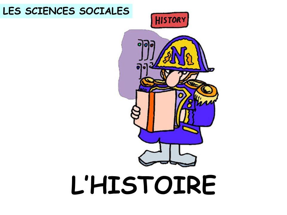 LHISTOIRE LES SCIENCES SOCIALES