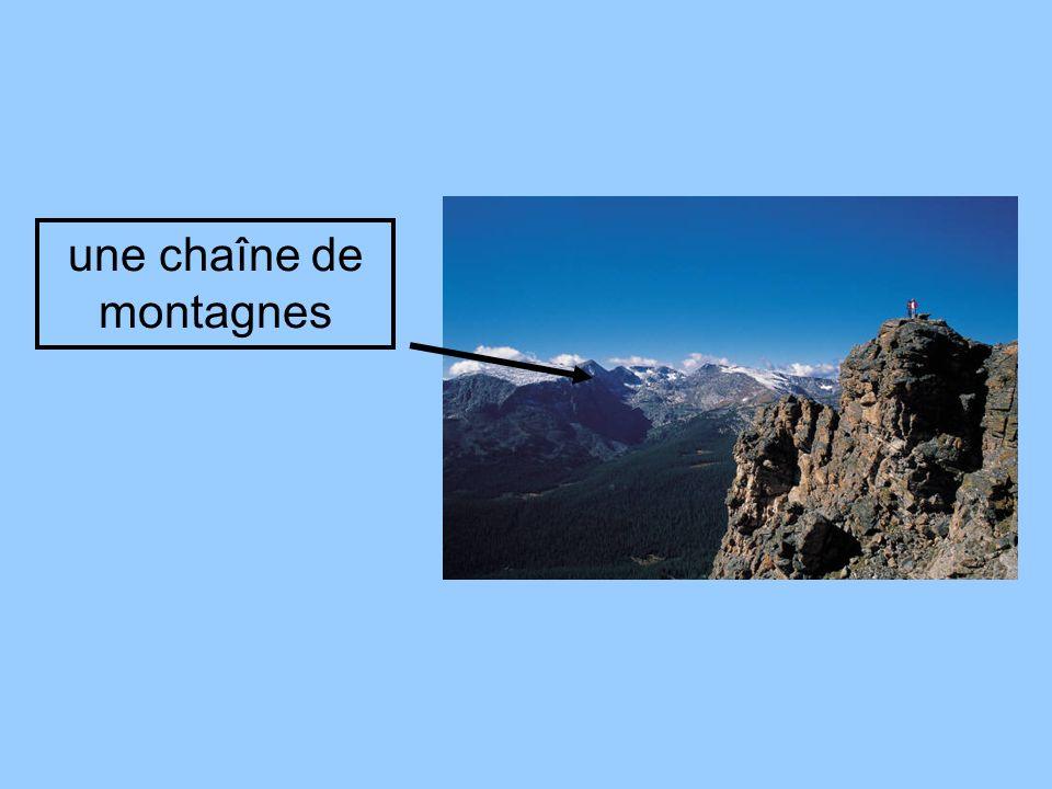 une chaîne de montagnes