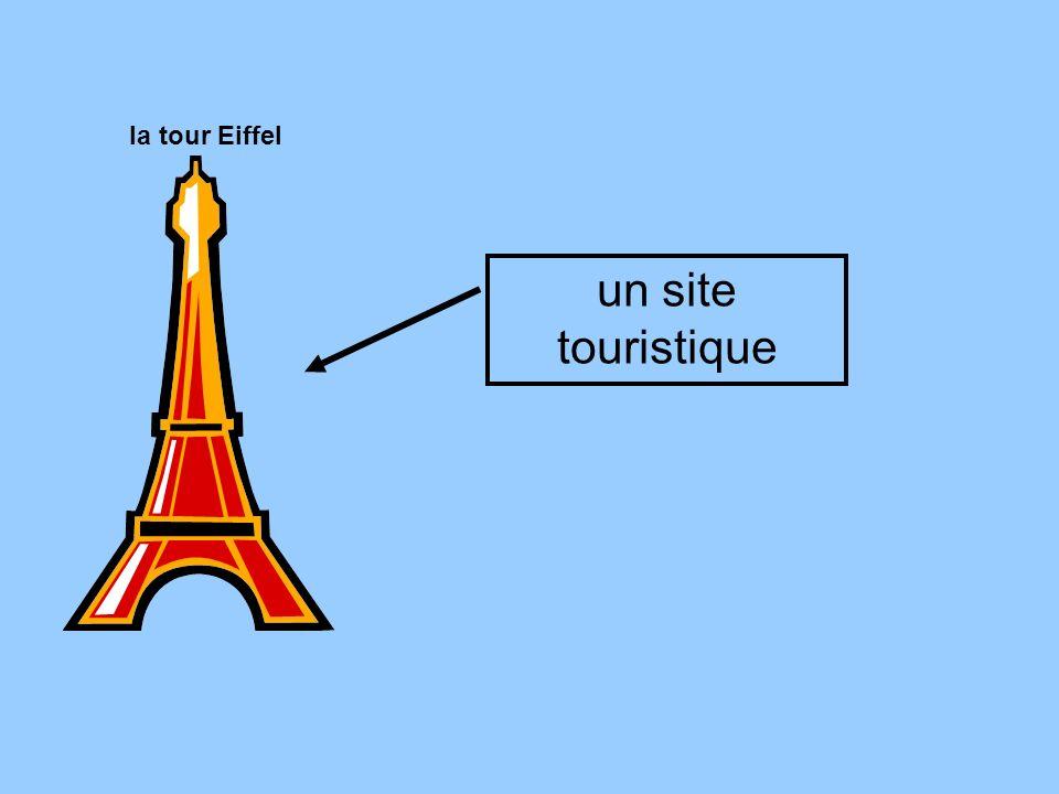 un site touristique la tour Eiffel
