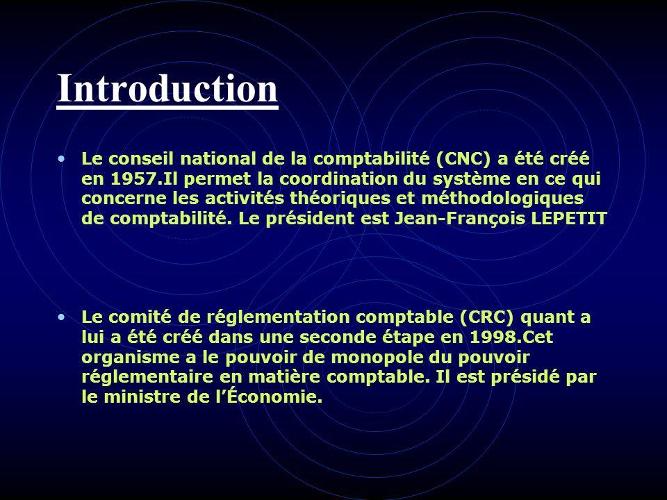 Le Conseil national de la comptabilité et le Comité de la réglementation comptable Présentation