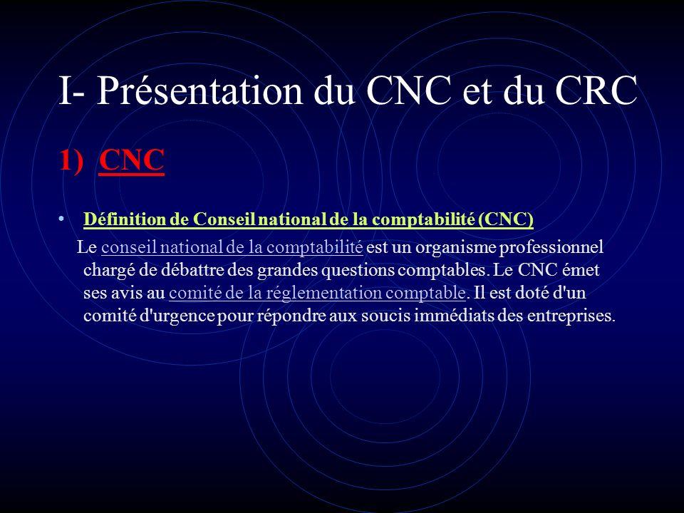 Plan de lexposé 1. Présentation du CNC et du CRC 2. Leurs rôles respectifs 3. Les liens