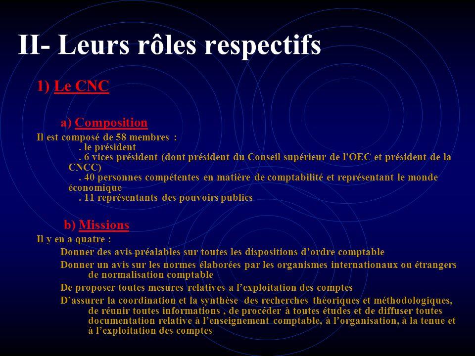 I- Présentation du CNC et du CRC 2) CRC Définition de Comité de la réglementation comptable (CRC) Le comité de la réglementation comptable est l'insta