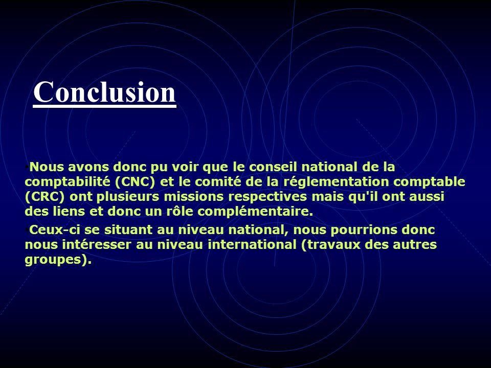 III- Les liens CNC CRC Avis dordre comptable Avis sur les normes Proposer des mesures relatives à lexploitation des comptes Infos enseignement comptab
