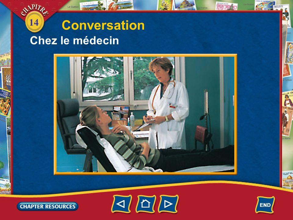 14 5. Le médecin est sérieux? 6. Quest-ce quil a, Vincent? Answer: Non, le médecin rigole. Answer: Vincent a une mauvaise grippe.