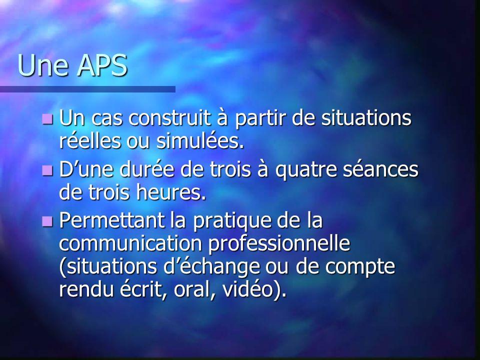 Nombre dAPS 5 à 6 APS en première année. 5 APS en deuxième année. Pour : Couvrir le référentiel. Permettre un véritable choix dactivités (5) pour lexa