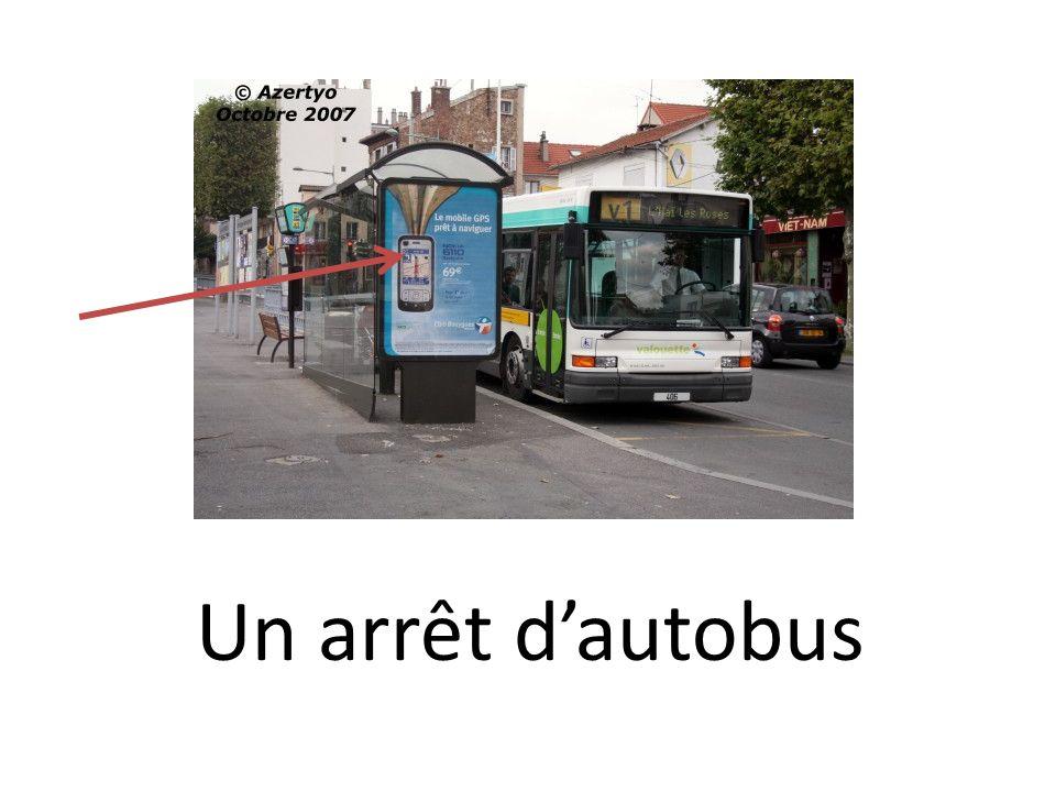 Un arrêt dautobus