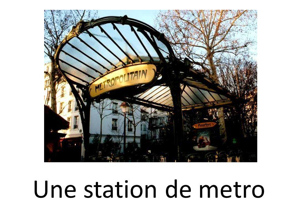Une station de metro
