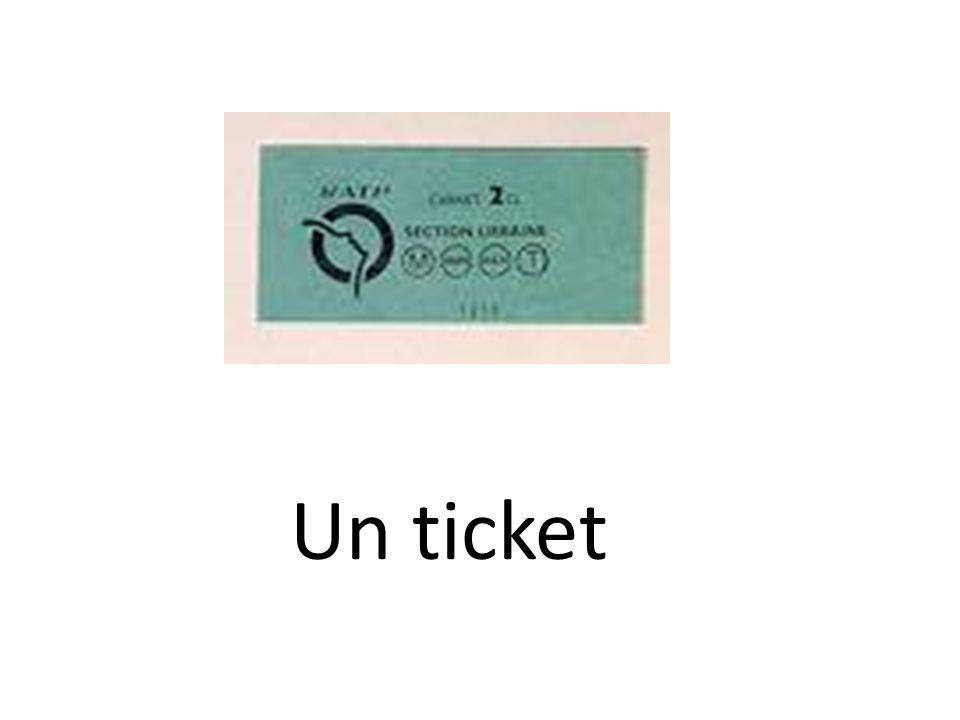 Un ticket