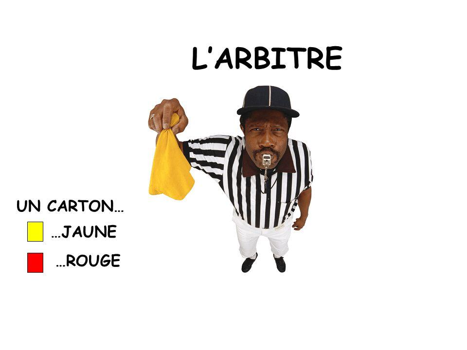 LARBITRE UN CARTON… …JAUNE …ROUGE