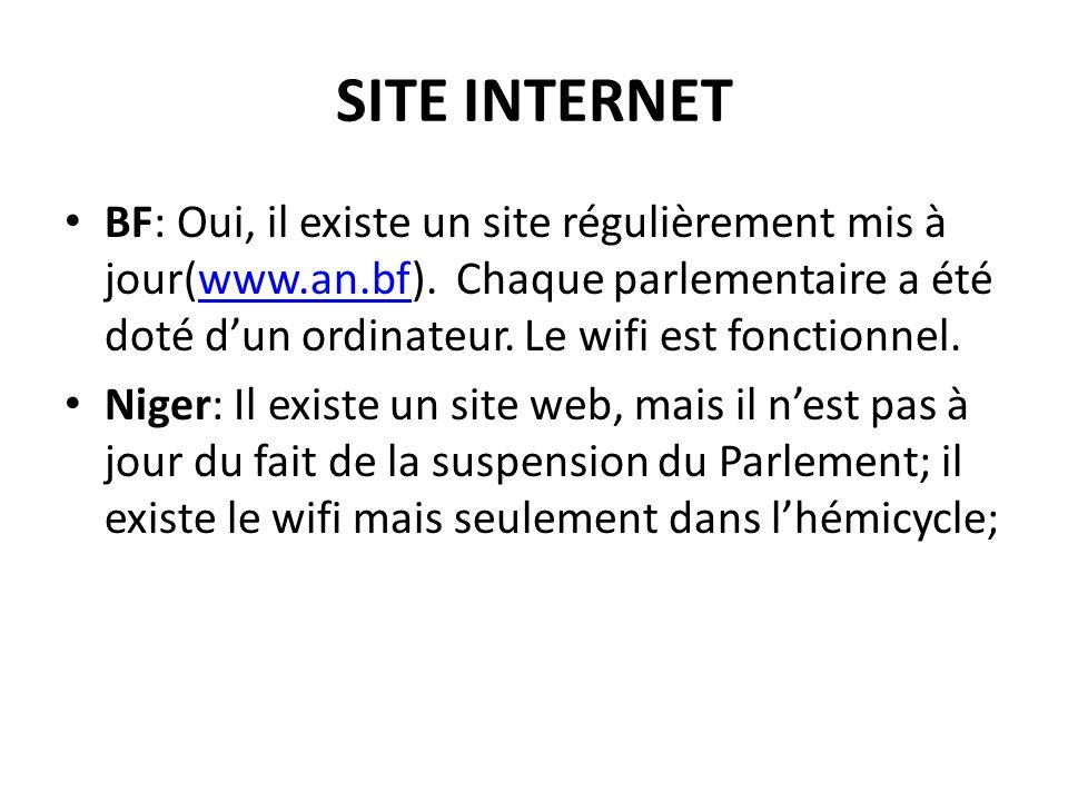 SITE INTERNET BF: Oui, il existe un site régulièrement mis à jour(www.an.bf).