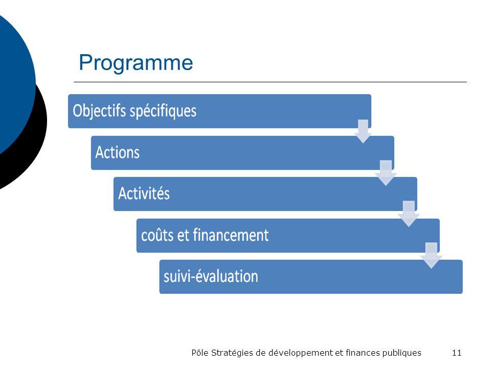 Programme Pôle Stratégies de développement et finances publiques 11