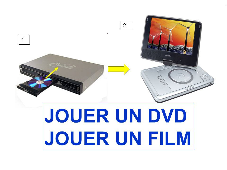 1 2 JOUER UN DVD JOUER UN FILM