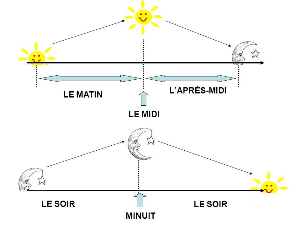LE MATIN LE MIDI LAPRÈS-MIDI LE SOIR MINUIT