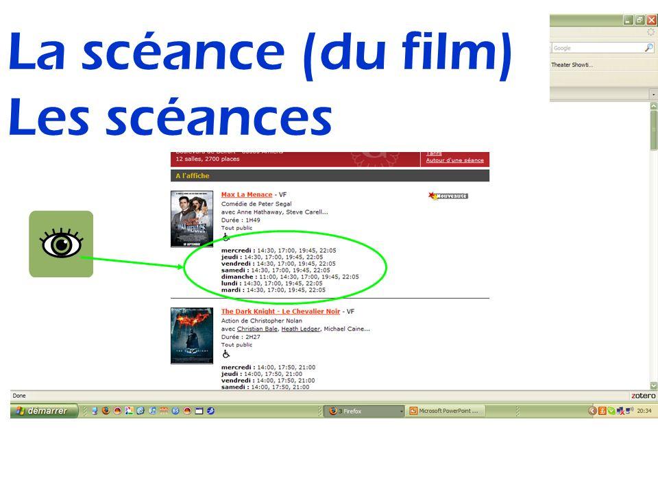 La scéance (du film) Les scéances
