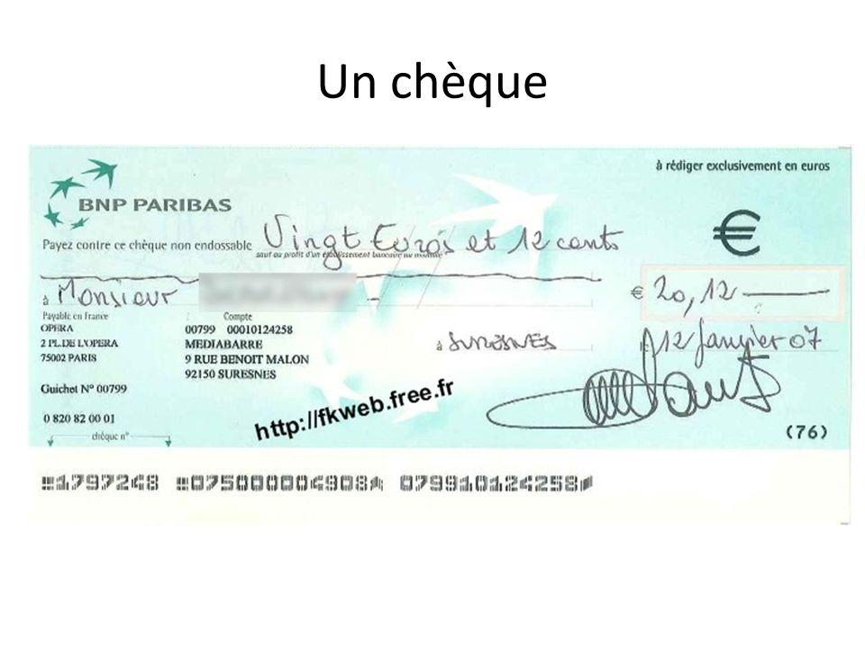 Un chèque